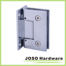 Polished Chrome Adjustable Wall Mount Full Back Plate Hinge